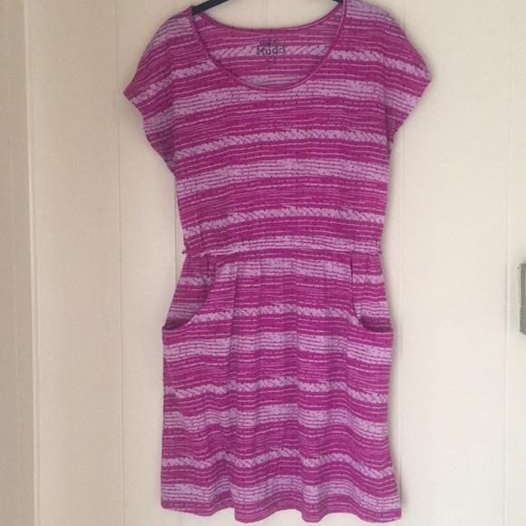 Mudd Dresses Purple Striped Dress With Pockets Poshmark